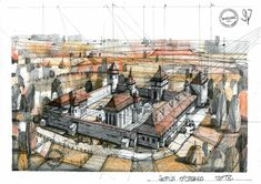 Architecture Sketches, Drawing Sketches, Drawings, Paris Skyline, Painting, Travel, Art, Art Background, Viajes