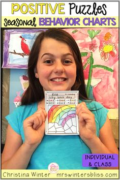 These positive behavior management charts are EASY to PREP and a FUN idea your students will love! The puzzles can be used as INDIVIDUAL student behavior charts and/or a positive behavior management system of support for your WHOLE GROUP! . Also included are EDITABLE behavior reward menus for individual and class rewards that are (mostly free) rewards that students love! #positivebehaviormanagement ##behaviormanagement ##behaviorcharts