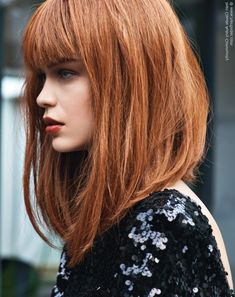 Extra Long Bob Haircuts Red Hair In A Long Bob With A Back To Front Angle