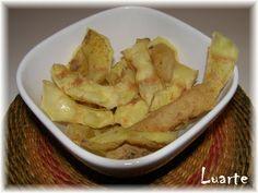 Aproveitar cascas de batatas