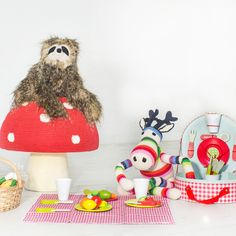 Trend This hand crocheted mushroom stool is possibly the cutest seat ever With a bright