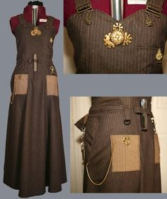 I also kind of love this steampunk apron. Although, again, do we really need all the extraneous shiny bits?