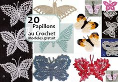 What can be better than decorating your home full of crochet butterfly patterns? I can already smell the spring season quickly approaching. Spring is just around the corner and the grass will soon be a bright shade of green surrounded … Read more. Crochet Butterfly Pattern, Crochet Owls, Love Crochet, Irish Crochet, Crochet Flowers, Knit Crochet, Crochet Bolero, Crochet Chart, Crochet 101 Learning