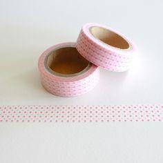 """Masking Washi Tape """"KLEINE ROSA PUNKTE / WEISS""""  von Washi-King auf DaWanda.com"""