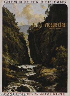 Chemin de fer d'Orléans. Excursions en Auvergne