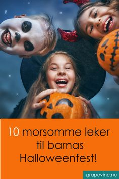 10 morsomme leker til barnas Halloweenfest - grapevine. Halloween Snacks, Halloween Kids, Halloween Themes, Halloween Decorations, Halloween Party, Halloween Costumes, Party Activities, Party Games, Holidays And Events
