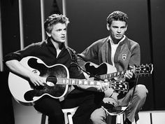 The Life and Times of The Everly Brothers The Life and Times of the Everly Brothers chronicles the lives of the famous Everly Brothers. This singing duo made. 50s Music, Music Songs, Gretsch, Epiphone, Chet Atkins, Buckingham Nicks, Best Duos, Phil Collins, Aerosmith
