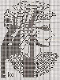 Egitto filet punto croce | Hobby lavori femminili - ricamo - uncinetto - maglia