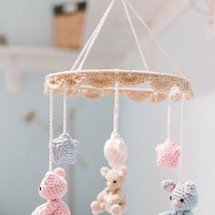 Danielle Roberts added a photo of their purchase Crochet Baby Mobiles, Crochet Mobile, Lady Bug, Handgemachtes Baby, Baby Boy Knitting Patterns, Cute Baby Elephant, Handmade Baby Gifts, Crochet Elephant, Crochet Teddy