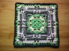 This is a lovely square, with such a interesting design. The back post stitches and long worked-in-the-front stitches give such distinctive personality to this granny. Hayton Block by Melissa Green is a great 12 inch square with a wonderful texture, which makes up more quickly and easily than you may think.  Wonderful square to add …