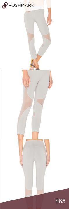 ALO Yoga High-Waist Coast Capri Current 2017 collection!! Color no longer available on website! The forward-thinking Coast Capri. They're perfect for working out and wearing out thanks to strategically placed seams and breathable mesh fabric blocking. Your legs will thank you. Engineered to lift, sculpt, contour and smooth. 4-way-stretch fabric for a move-with-you feel. Moisture-wicking antimicrobial technology. Breathable mesh detail. High-waisted. ALO Yoga Pants Capris