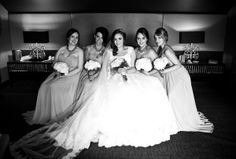 Bridesmaids <3 An exquisite Lochside House Wedding with a palette of Tiffany Blue and handcrafted special touches. Photos by Gary Bonar Photography - www.garybonarphotography.com