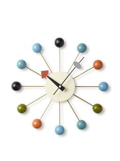 George Nelson Atomic Ball Wall Clock at MYHABIT