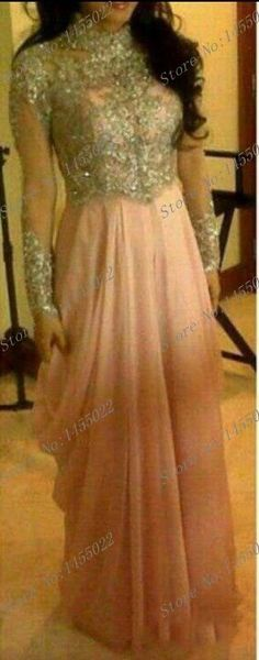 New 2014 Beaded Pink And Gold Arabic Party Dresses Dubai Moroccan Kaftan Jalabiya Abaya in Dubai Muslim Long Sleeve Maxi Dress-in Evening Dresses from Weddings & Events on Aliexpress.com | Alibaba Group