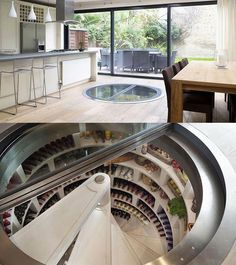 15 Awesome House Ideas : Meme Collection Escaleras del salón de fiestas a la cava bar