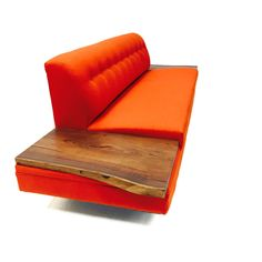 Mid Century Sofa with Walnut End Tables - in the Style of Adrian Pearsall