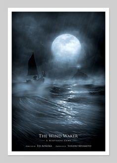 Wind Waker Inspired 13x19 Inch Print.  via Etsy.