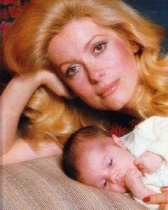 Catherine Deneuve with her daughter, Chiara.