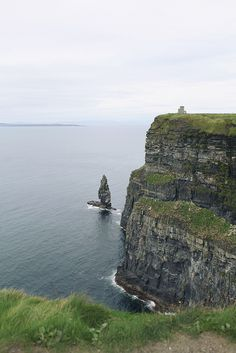 the cliffs of moher... have this exact picture.... dustin almost fell off the cliff:)