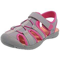 c9379aa93 Rugged Outback Grey Pink Girls  Marina Bumptoe Sandal 5 Regular Teva Kids
