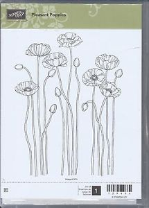 Stampin' Up Pleasant Poppies Clear Mount Set of One Outline Background Stamp | eBay