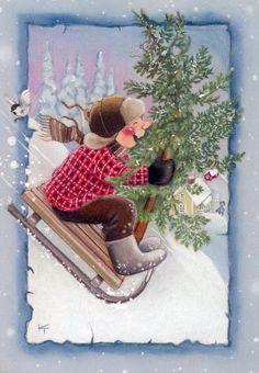 Kaarina Toivanen - Юлия К - Picasa Web Albums Christmas Tale, Christmas Nativity, Very Merry Christmas, Winter Christmas, Christmas Crafts, Christmas Clipart, Christmas Printables, Photo Postcards, Vintage Postcards