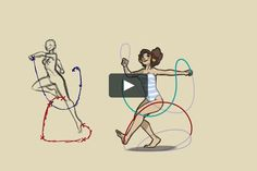 In-depth explanation of the skipping motion in animation. Music by Klaus Weiland