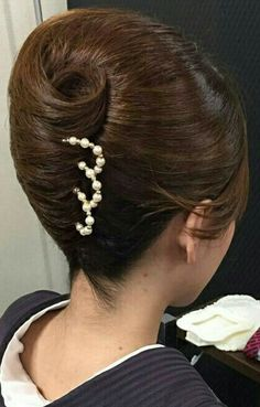 Hairstyles For Long Thick Hair Elegant Hairstyles, Long Hairstyles, Vintage Hairstyles, Long Haircuts, Up Dos For Medium Hair, Medium Hair Styles, Long Hair Community, French Twist Updo, High Updo