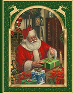 Christmas Eve panel from Quilting Treasures  Appletree Quilting and Viking Center -- Columbia, Missouri: Shop | Category: Christmas - Cute & Funny | Product: V 45288-F