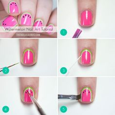 SnapWidget | Here's the step-by-step for the watermelon nails I posted a few days ago... my most liked mani on Instagram ever! A full list of the polishes and equipment used as well as more detailed description of the steps is up on the blog. Please save any questions until after you've read the post as the answer is probably waiting for you there.