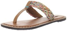 Love these colorful Greek slip on sandals