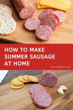 How to Make Summer Sausage Homemade Recipe & Cooking Methods I decided to sh Venison Summer Sausage Recipe, Homemade Summer Sausage, Summer Sausage Recipes, Homemade Sausage Recipes, Homemade Recipe, Sausage Spices, Sausage Seasoning, Jerky Recipes, Venison Recipes