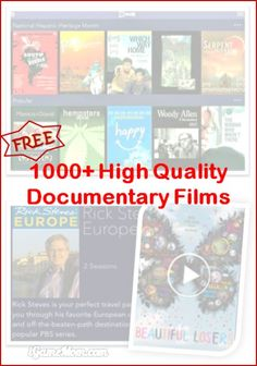 Free high quality documentary films on iPad and Android, great for class projects, study reference, homeschool materials