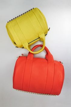 Alexander Wang – Rocco Studded Duffle Bag. A pop of color! @ Fashion and Style