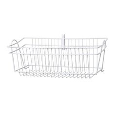 ClosetMaid ShelfTrack 19.5-in x 8.375-in x 8.7-in White Wire Basket in the Wire Closet Accessories department at Lowes.com Pantry Storage, Pantry Organization, Storage Drawers, Utility Shelves, Epoxy Coating, Closet Accessories, Laundry Closet, Large Baskets, White Shop