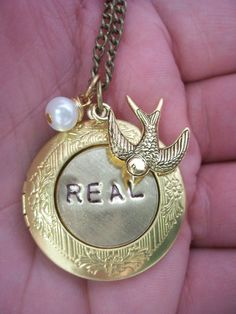Hunger Games Necklace  Peeta's locket