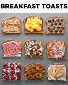 Love Toast In The Morning? Jazz Yours Up With These 9 Delici.- Love Toast In The Morning? Jazz Yours Up With These 9 Delicious Breakfast Toast Recipes Love Toast In The Morning? Jazz Yours Up With These 9 Delicious Breakfast Toast Recipes - Think Food, Love Food, Healthy Drinks, Healthy Recipes, Healthy Breakfasts, Healthy Breakfast Recipes For Weight Loss, Fruit Drinks, Fruit Snacks, Healthy Teen Snacks