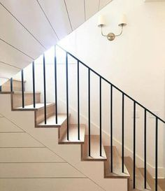 New Staircase Design Ideas - Annette Home Staircase Molding, Stairs Trim, New Staircase, Staircase Remodel, Metal Stairs, Staircase Makeover, Staircase Railings, Modern Stairs, Staircase Design
