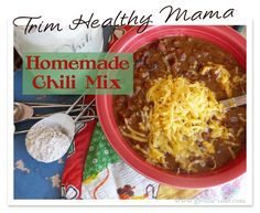"THM Chili Mix & E Style Chili Recipe.Our favorite chili recipe! Use ground turkey with 2 cans black beans for ""E"" or ground beef and 1 can black beans for ""S"". I double chili powder, cumin, & garlic; Thm Recipes, Chili Recipes, Cooking Recipes, Skinny Recipes, Cream Recipes, Trim Healthy Recipes, Recipies, Vegetarian Recipes, Trim Healthy Momma"