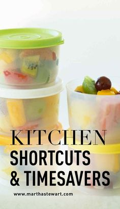 Kitchen Shortcuts & Timesavers | Martha Stewart Living - Whatever your skill level in the kitchen, these shortcuts and tips will make every step of preparing a meal or dessert more efficient, and ultimately more rewarding.