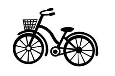 Free bicycle cutting file. How cute would this be in vintage colors with die cut flowers coming out of the basket and gems in the center of the wheels??