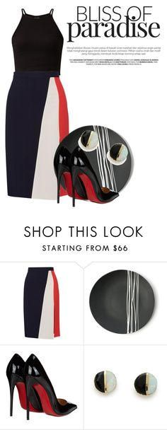 """Made me black and blue"" by dedication ❤ liked on Polyvore featuring Tanya Taylor, Sarah Cihat, Christian Louboutin and Erica Weiner"