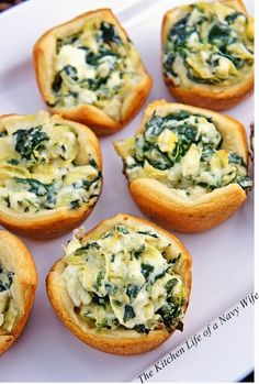 The Kitchen Life of a Navy Wife: Spinach Artichoke Bites