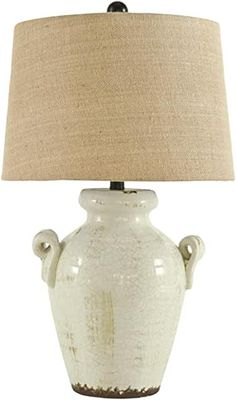 Amazon.com : french country bedrooms colors Farmhouse Table Lamps, Modern Farmhouse Table, Marble Pictures, Ceramic Table Lamps, French Country House, Home Office Furniture, Bedroom Furniture, Signature Design, Pottery Vase