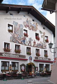 Berchtesgaden, Bavaria, Germany. This is a typical bar/restaurant with rooms upstairs. I can still feel the crisp evenings with a voluminous feather bed to stay warm
