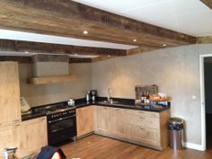Keuken, afwerking concrete parelmoer
