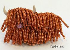 Heilan' Coo / Highland Cow Brooch Tutorial & Kit - A Bead Embroidery Project
