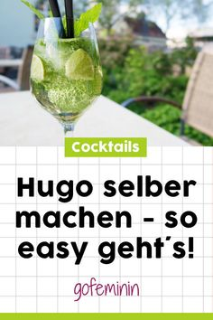 Do it yourself: It's so easy to make a Hugo cocktail yourself - Angesagte Drinks // Cocktail-Rezepte - food summer Hugo Cocktail, Champagne Cocktail, Cocktail Drinks, Four Loko, Party Drinks Alcohol, Non Alcoholic Drinks, Healthy Eating Tips, Clean Eating Snacks, Cocktails