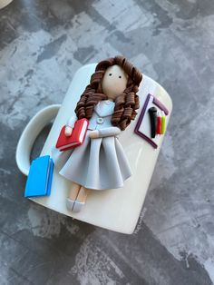 Coffee Jars, Cute Coffee Mugs, Tea Mugs, Mermaid Mugs, Mermaid Gifts, Personalized Gifts For Her, Personalized Coffee Mugs, Cute Polymer Clay, Polymer Clay Crafts