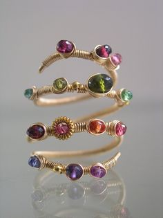 Bright Lights...Colorful Gemstone Studded by bellajewelsII on Etsy